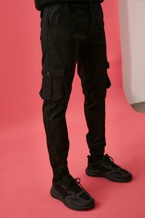 TRENDYOL MAN Siyah Erkek Kargo Jogger Pantolon TMNAW20PL0633 1