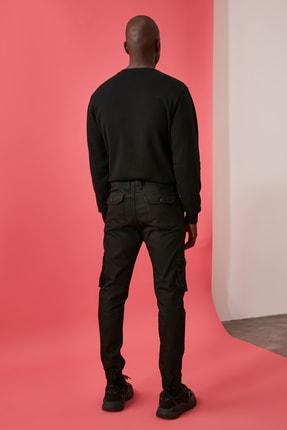 TRENDYOL MAN Siyah Erkek Kargo Jogger Pantolon TMNAW20PL0633 4