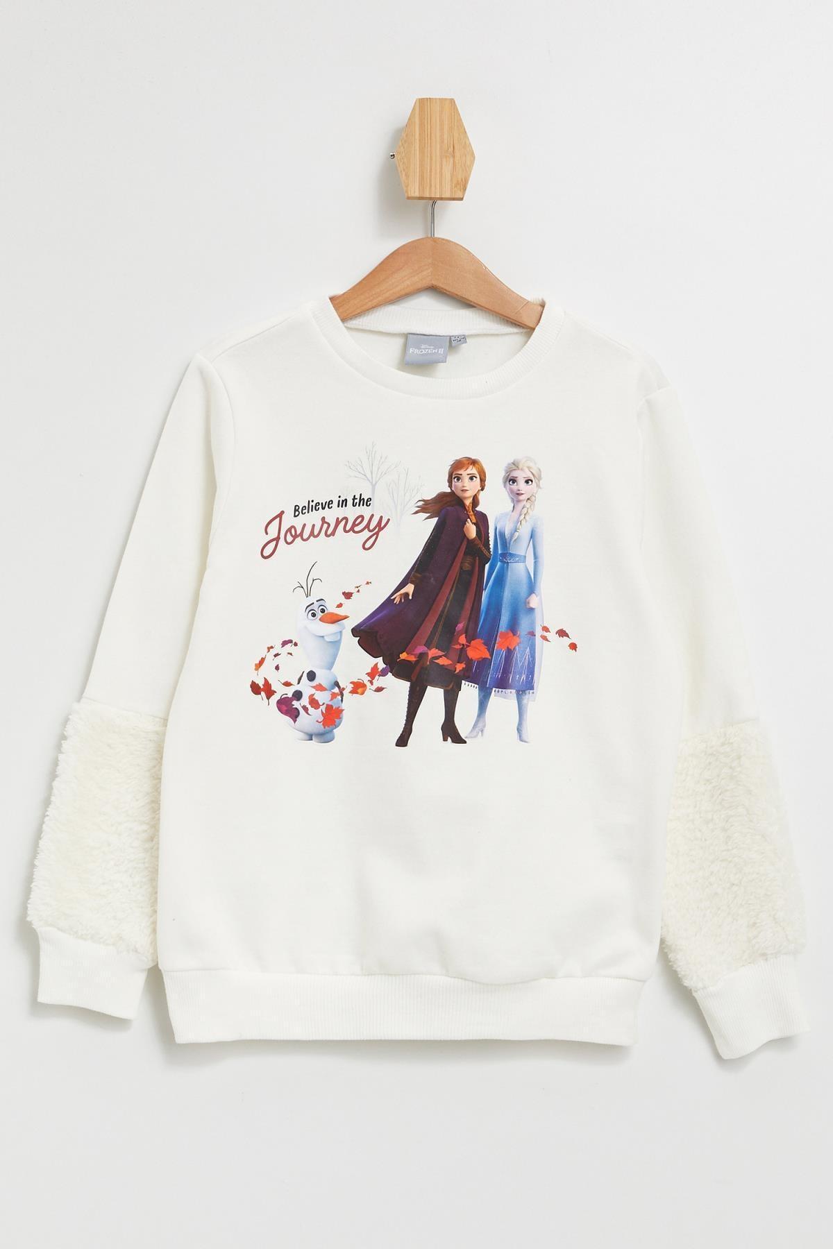 Defacto Kız Çocuk Frozen Lisanslı  Sweatshirt 1