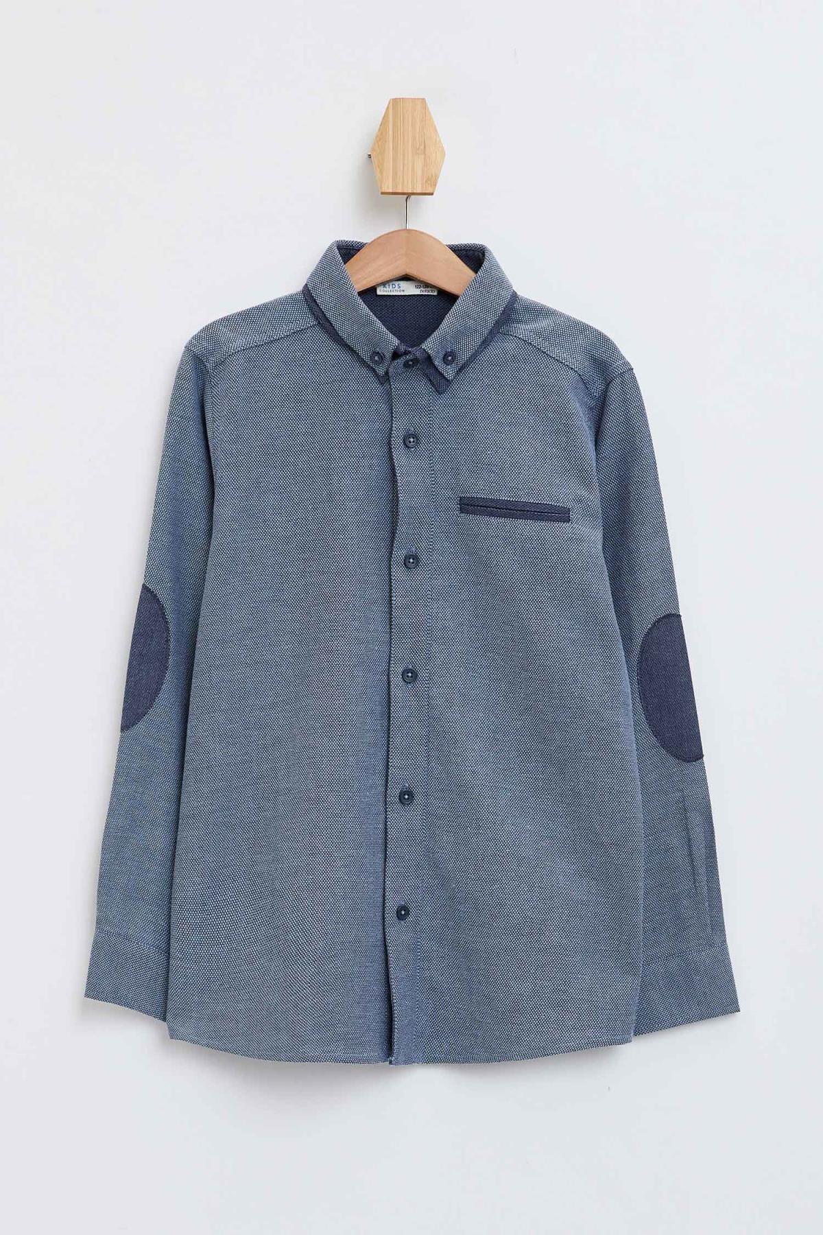 Defacto Erkek Çocuk Polo Yaka Uzun Kol Pamuklu Gömlek 2