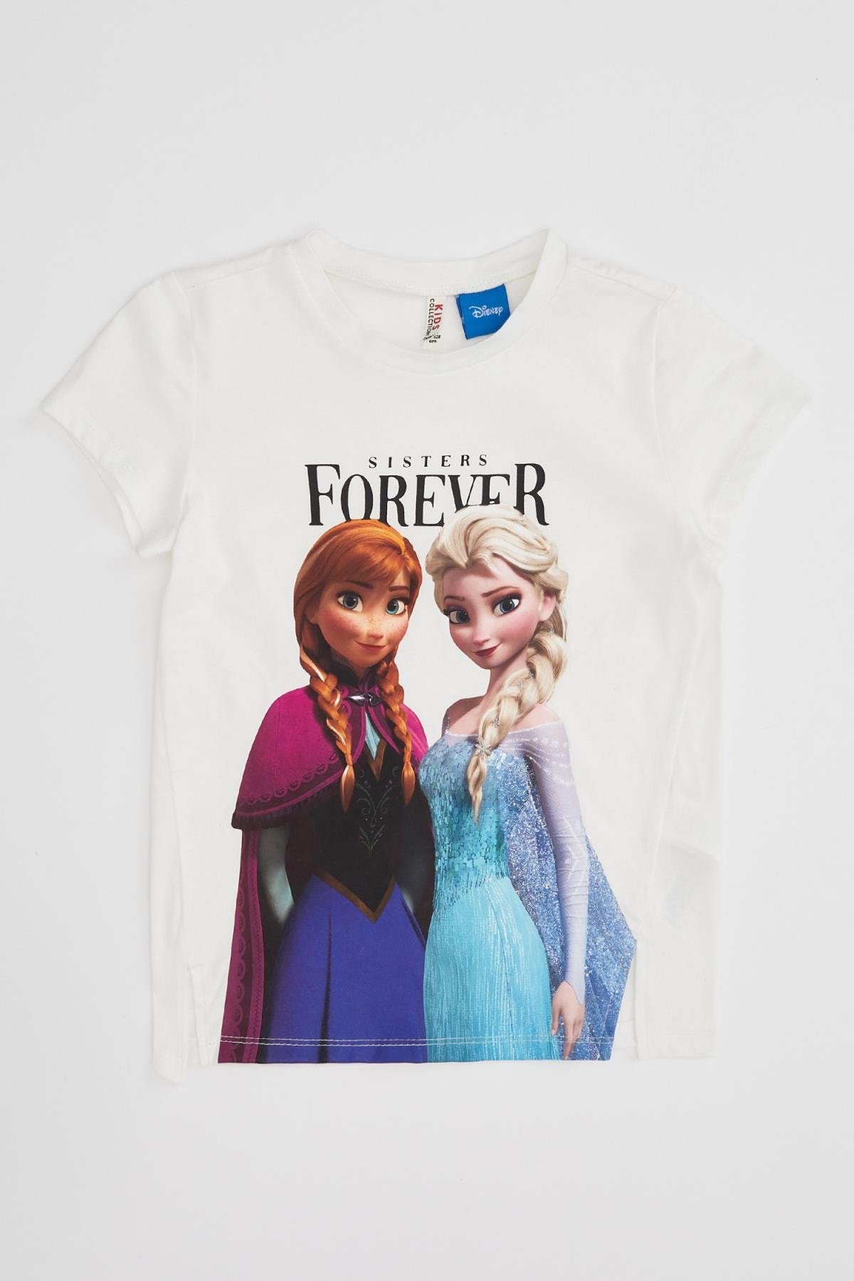 Defacto Kız Çocuk Frozen Lisanslı Kısa Kollu T-shirt 4