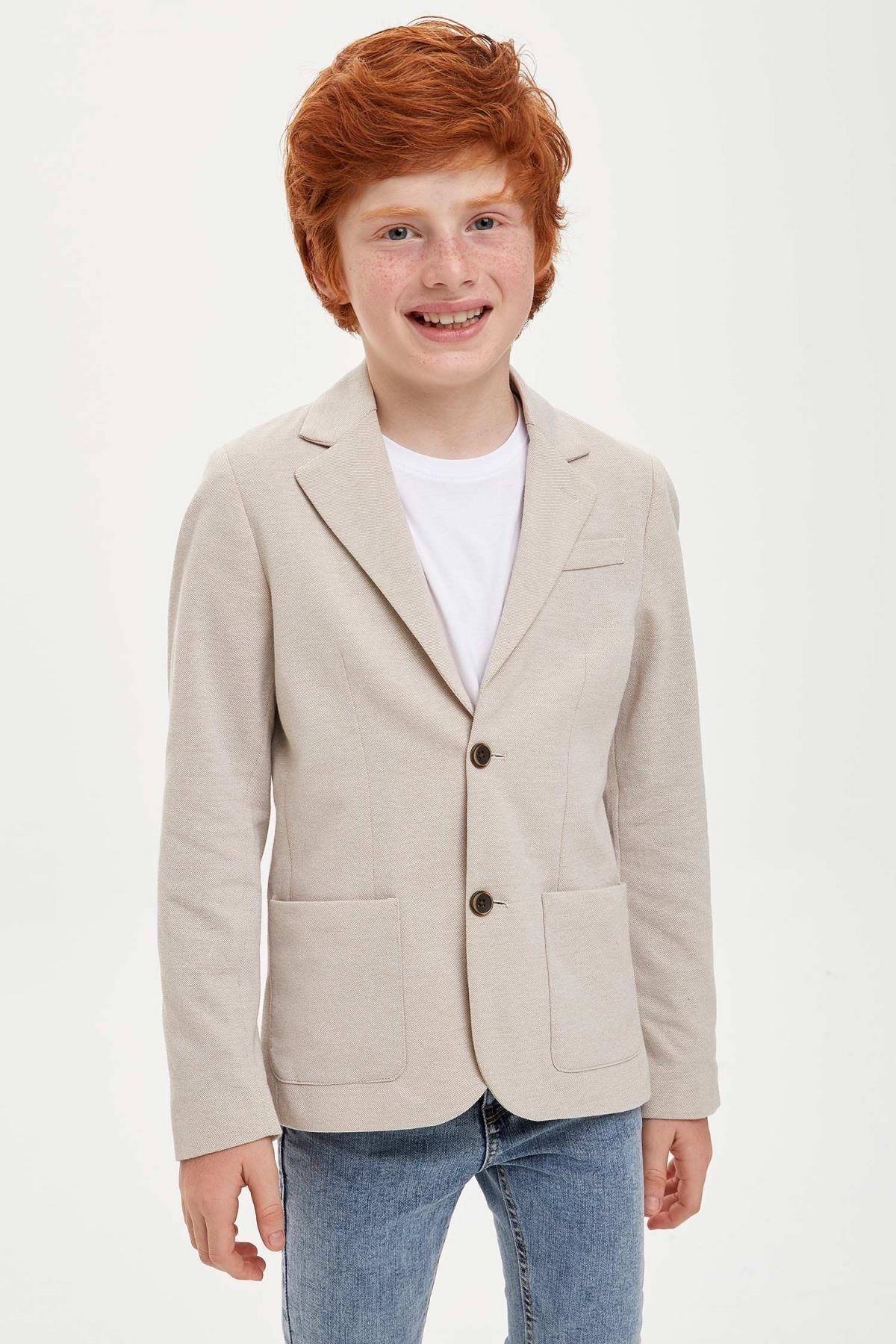 Defacto Erkek Çocuk Blazer Ceket 0