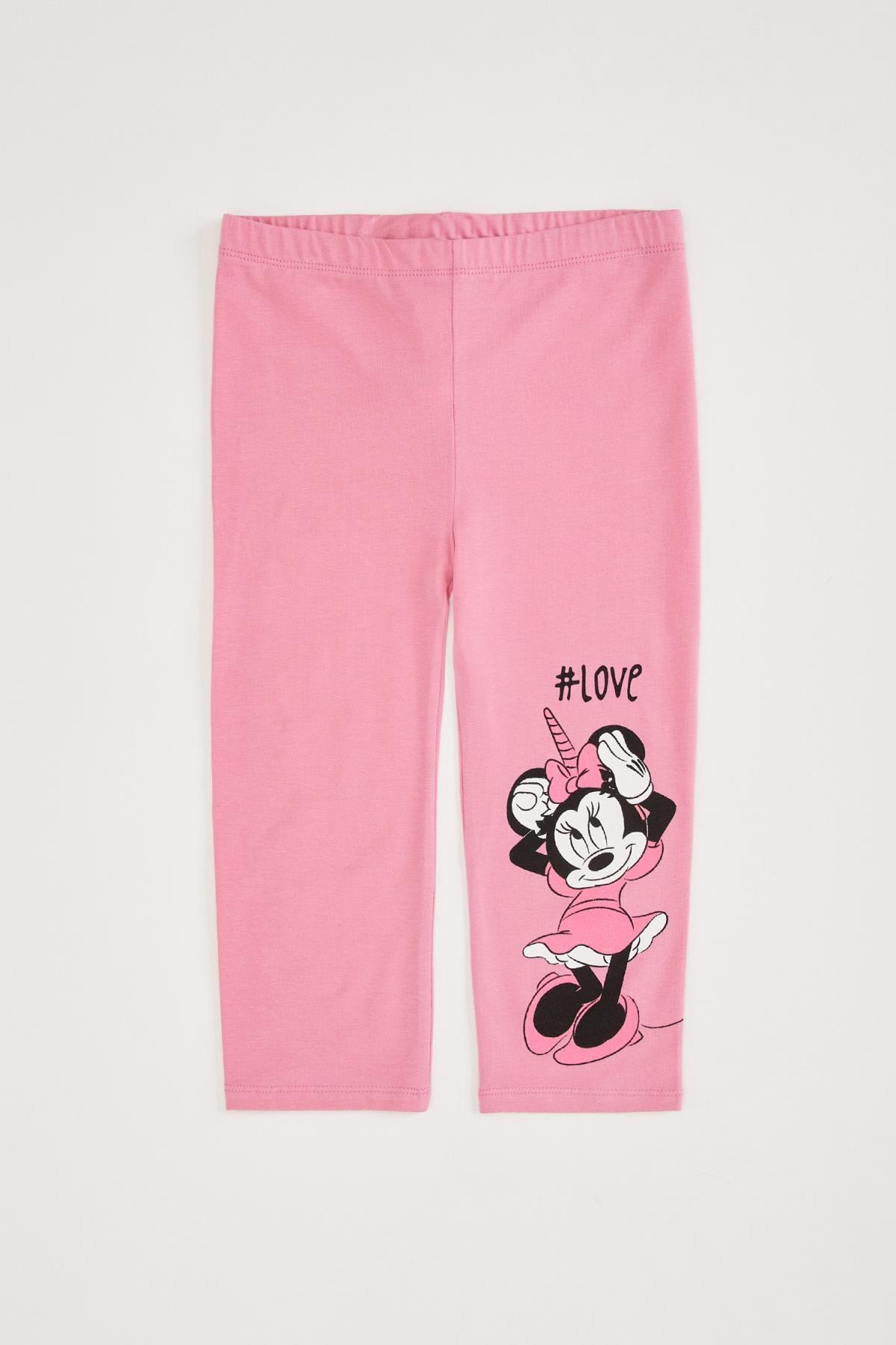 Defacto Kız Çocuk Slim Fit Minnie Mouse Lisanslı Tayt 0