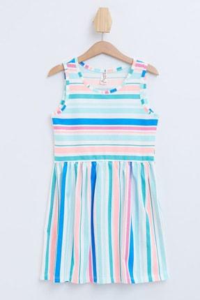Defacto Çizgili Kolsuz Örme Elbise 3