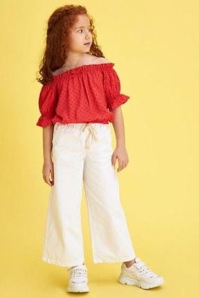 Defacto Kız Çocuk Puantiyeli Kısa Kol Bluz 1