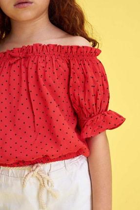 Defacto Kız Çocuk Puantiyeli Kısa Kol Bluz 2