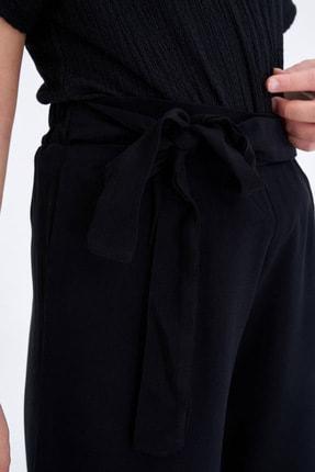 Defacto Beli Kuşaklı Culotte Pantolon 2