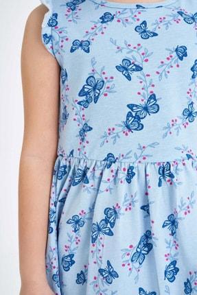 Defacto Baskılı Fırfır Detaylı Örme Elbise 2