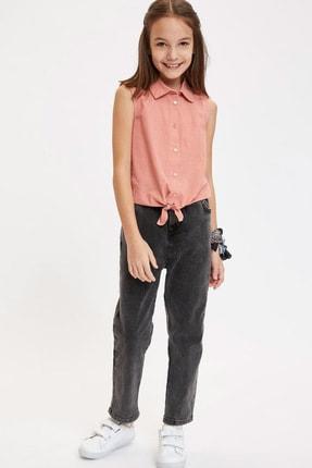 Defacto Kız Çocuk Bağlama Detaylı Kolsuz Gömlek 1