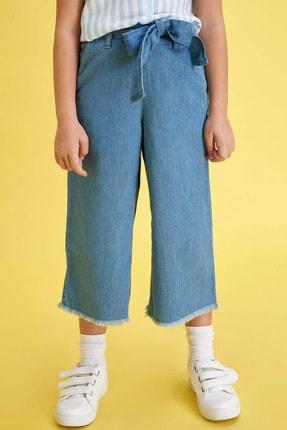 Defacto Kız Çocuk Mavi Kot Jeans 1