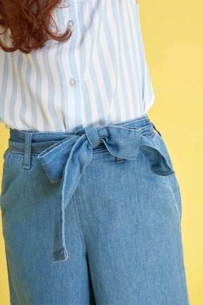 Defacto Kız Çocuk Mavi Kot Jeans 2