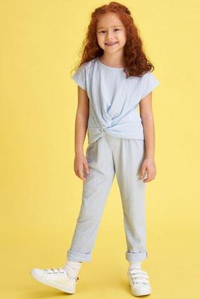 Defacto Kız Çocuk Basic T-shirt Pantolon Takım 0