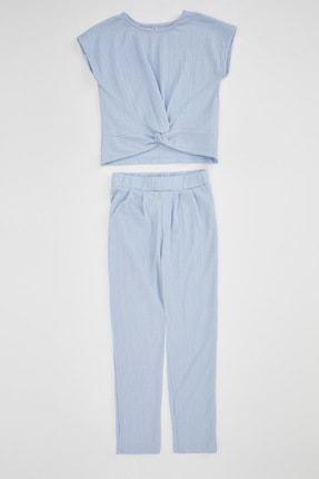 Defacto Kız Çocuk Basic T-shirt Pantolon Takım 3