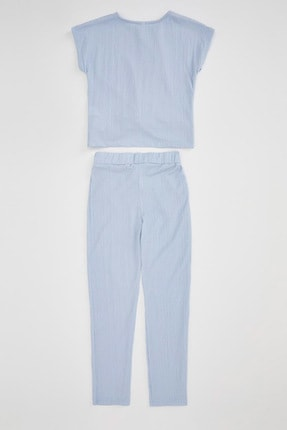 Defacto Kız Çocuk Basic T-shirt Pantolon Takım 4