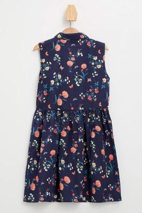 Defacto Kız Çocuk Baskılı Düğmeli Kolsuz Dokuma Elbise 3