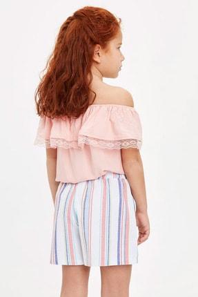 Defacto Kız Çocuk Omuzu Açık Bluz 2