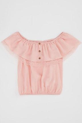 Defacto Kız Çocuk Omuzu Açık Bluz 3