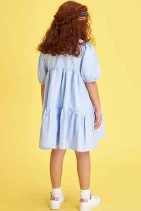 Defacto Kız Çocuk Relax Fit Kısa Kollu Dokuma Elbise 2