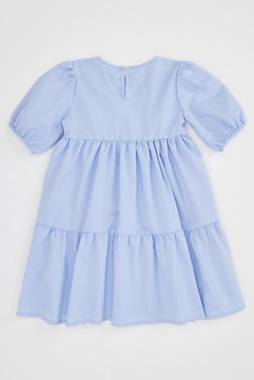 Defacto Kız Çocuk Relax Fit Kısa Kollu Dokuma Elbise 4