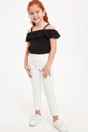 Defacto Kız Çocuk Askılı Fırfırlı Bluz 1