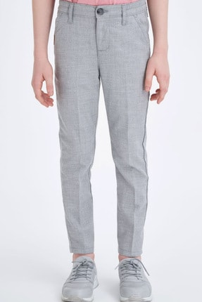 Defacto Erkek Çocuk Slim Fit Dokuma Pantolon 1