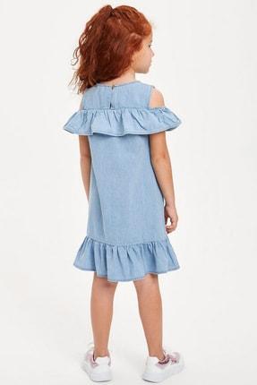 Defacto Kız Çocuk Mavi Kot Elbise 2