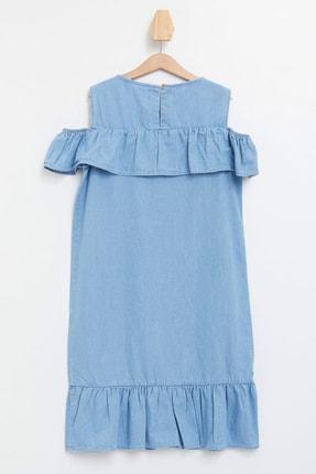 Defacto Kız Çocuk Mavi Kot Elbise 3