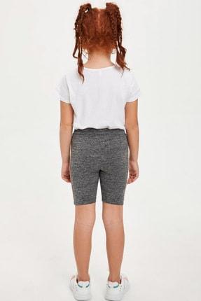 Defacto Kız Çocuk Slim Fit Basic Tayt 3