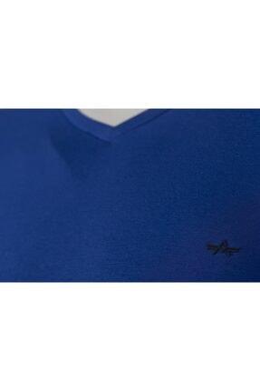 Arma Erkek Lacivert Basic V Yaka Slim Fit T-shirt 1