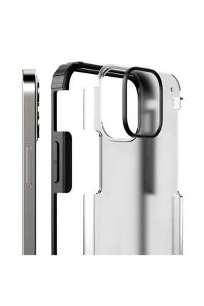 Pickcase Apple Iphone 12 Pro 6.1 Kılıf Kamera Korumalı Arkası Mat Kenarları Siyah Arka Kapak 2