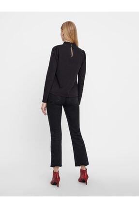 Vero Moda Kadın Siyah Yaka Detaylı Sweatshirt 10206533 VMFOREST 3