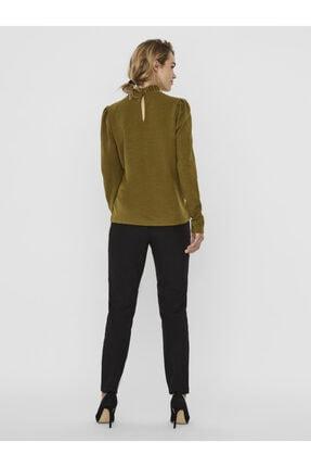 Vero Moda Kadın Yeşil Yaka Detaylı Sweatshirt 10206533 VMFOREST 3