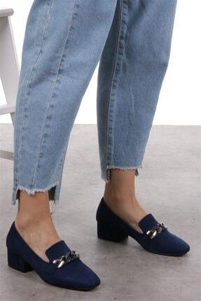 Mio Gusto Magnolia Lacivert Topuklu Ayakkabı 1
