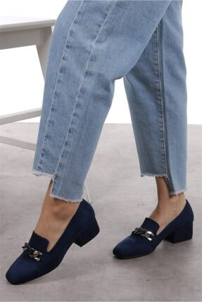 Mio Gusto Magnolia Lacivert Topuklu Ayakkabı 3