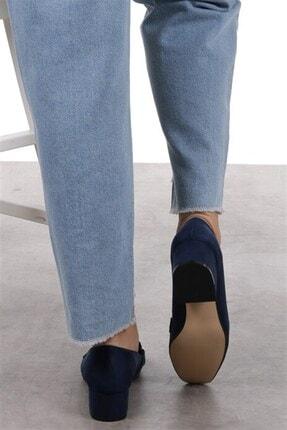 Mio Gusto Magnolia Lacivert Topuklu Ayakkabı 4