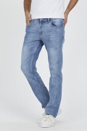 DAMGA JEANS Erkek Açık Mavi Rahat Kesim Pantolon 1