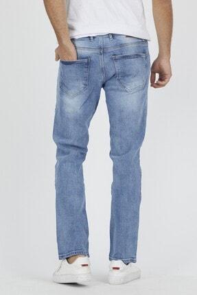 DAMGA JEANS Erkek Açık Mavi Rahat Kesim Pantolon 3