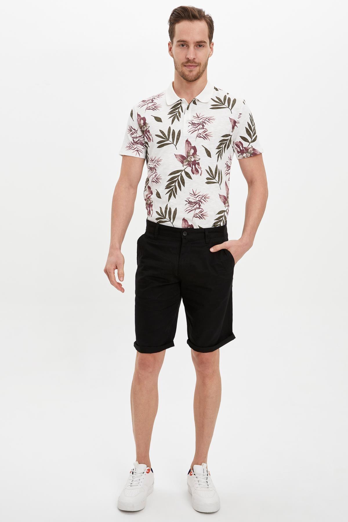 Defacto Erkek Beyaz Slim Fit Polo T-Shirt M3006AZ.19HS.WT32 0