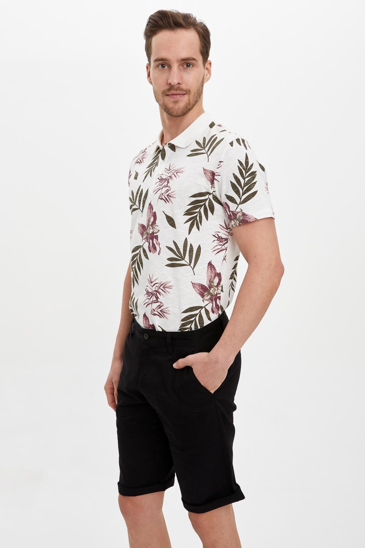 Defacto Erkek Beyaz Slim Fit Polo T-Shirt M3006AZ.19HS.WT32 1