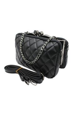 Sanmorris 5003 Kadın Çapraz Çanta Bayan Çanta Siyah-siyah 3