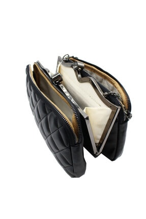 Sanmorris 5003 Kadın Çapraz Çanta Bayan Çanta Siyah-siyah 4