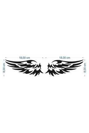 ECELUXE Kanat Oto Sticker Yapıştırma 18x8cm 1