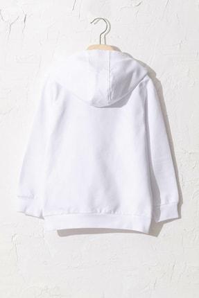 LC Waikiki Erkek Çocuk Parlak Beyaz Jyx Sweatshirt 1