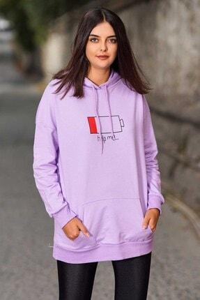 Madmext Mad Girls Purple Printed Hooded Sweatshirt Mg751 1