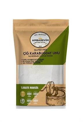 Ambarevim Çiğ Karabuğday Unu Analizli 1kg Glutensiz Taş Değirmen 1.kalite 0