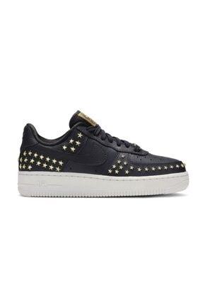 Nike Kadın Siyah Air Force 1 '07 Xx Sneaker Ayakkabı Ar0639-001 0
