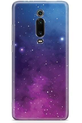 Zipax Samsung Galaxy A91 Kılıf Galaksi Desenli Baskılı Silikon Mel-109517 3