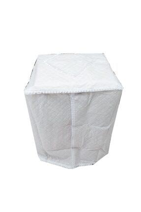 Ekinci Beyaz Çamaşır Makinesi Örtüsü 0