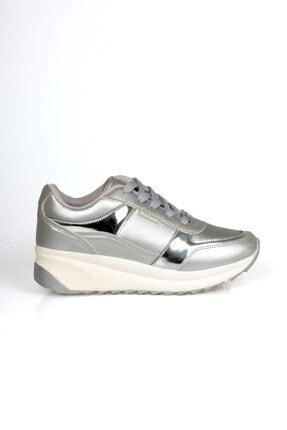 Wickers Kadın Gümüş Bağcıklı Spor Ayakkabı 0