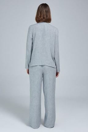 Appleline Kadın Gri Düğmeli Pijama Takımı 3